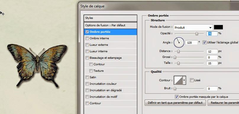 de la 2D à la 3D dans une page de scrap clin doeil design