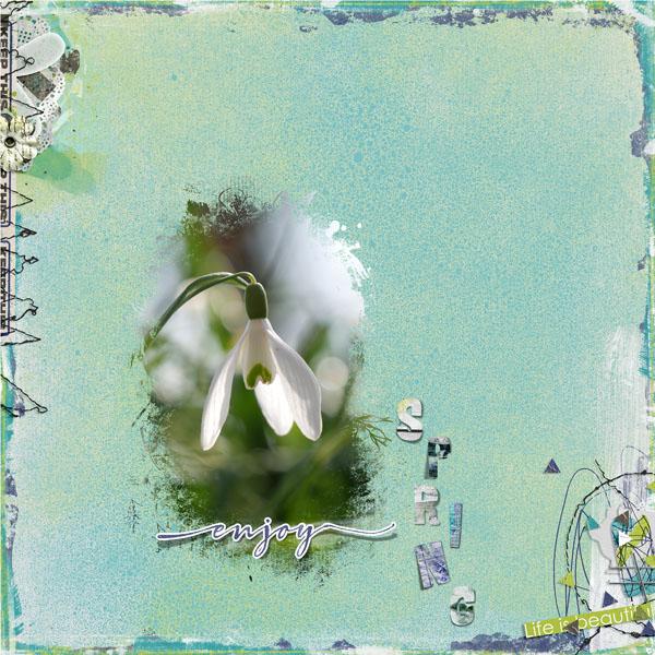 Enjoy Life by Kawouette - Clin d'oeil Design - scrap digital -
