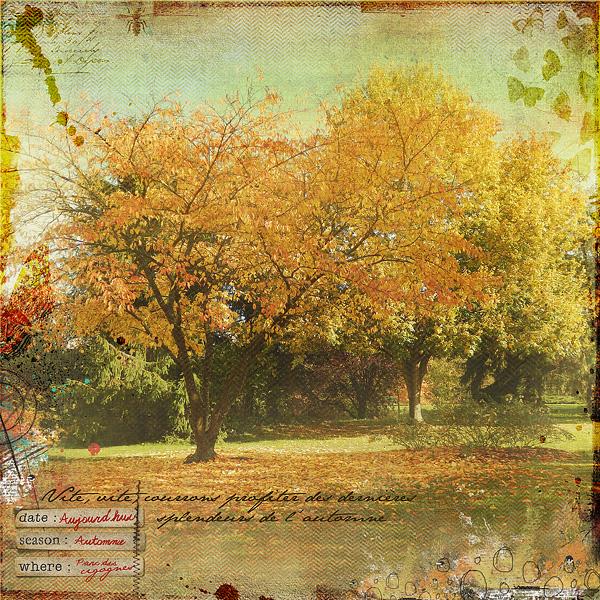 L'automne , Clin d'oeil design
