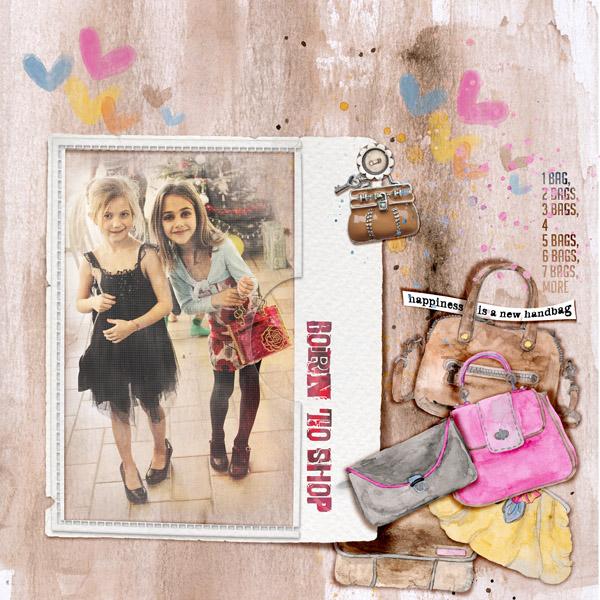 Handbag Essentials by Dawn Inskip Un kit de scrap sur les sacs à main ! Un nouveau sac à main : aussi indispensable à chaque femme qu'une nouvelle paire de chaussures ! scrap digital