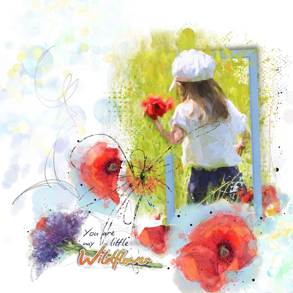 scrapbooking digital clindoeildesign clin d'oeil design NBK Design Wildflowers collection