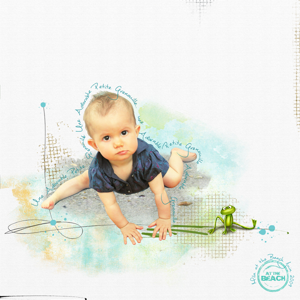clin doeil Design - Adorable petite Grenouille tuto écrire le long d'une forme