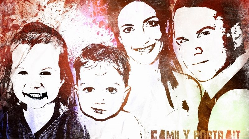 Grunge family portrait - Clin d'oeil Design