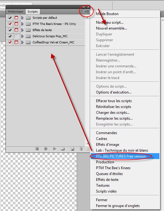 Tuto installer des actions dans photoshop CS5 Clin d'oeil design