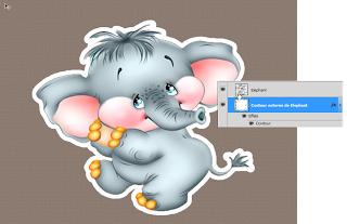 Tutorial créer des stickers, outil contours Photoshop scrap digital