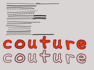 Tuto Couture sous Photoshop PSE Clin d'oeil Design