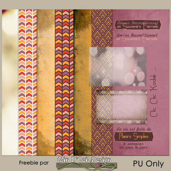 Clin d'oeil Design; Kit Publiscrap Escale Vintage Freebie