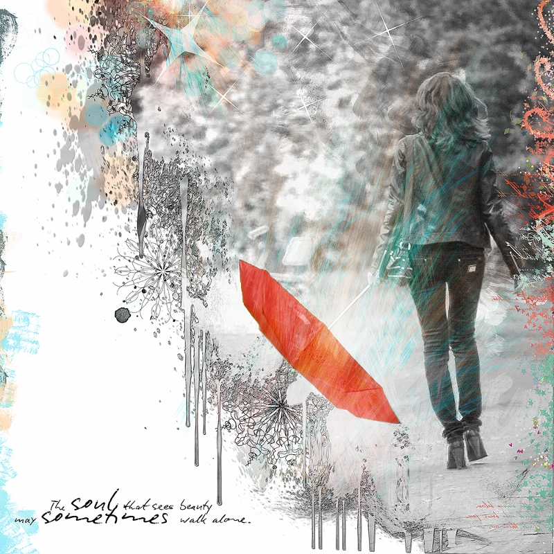 Challenge B&W Black and white and splash of colour by clin d'oeil design