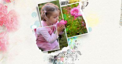 Mini'O rose bohème NBK Design a scrapbook page by Clin d'oeil design