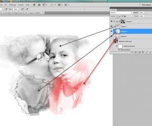 Tuto Photoshop utilisation filtre pinceau à sec