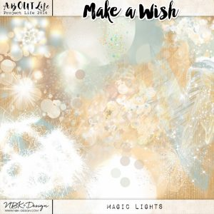 An artsy scrapbookpage by Clin d'oeil design Make a Wish by NBK Design