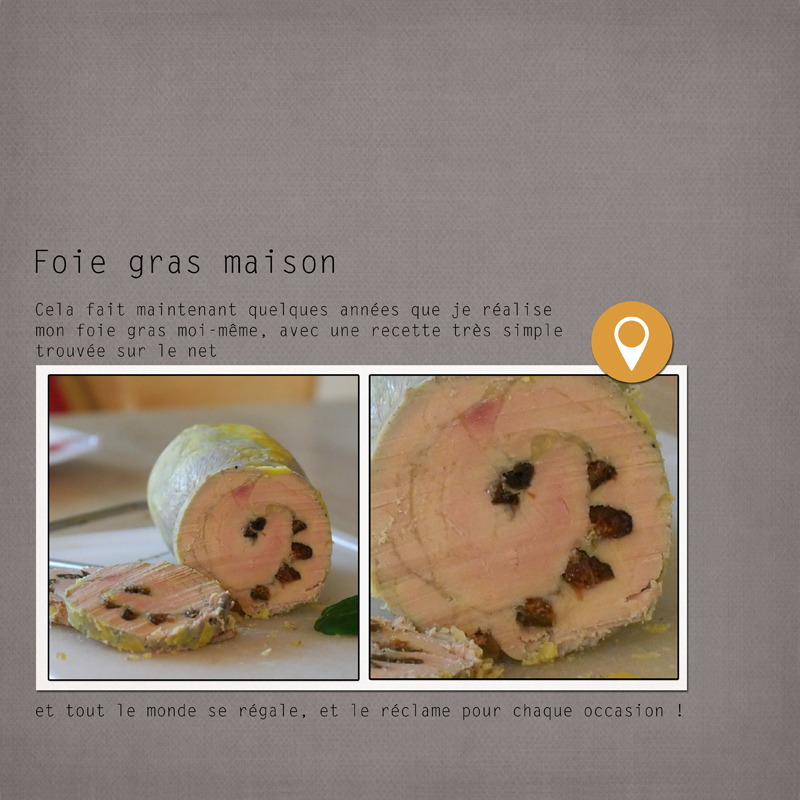 Advent Calender 2016 Oscraps day by clin d'oeil Design Recette foie gras maison