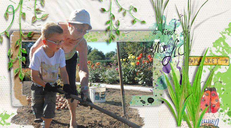 Dans le jardin de mamie jacqueline clin d 39 oeil design scrap digital - Mamie baise dans le jardin ...