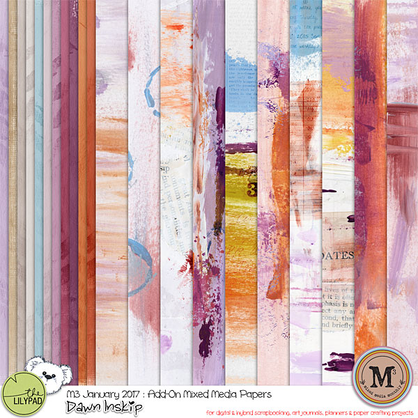 Monthly Mixed Media Janvier
