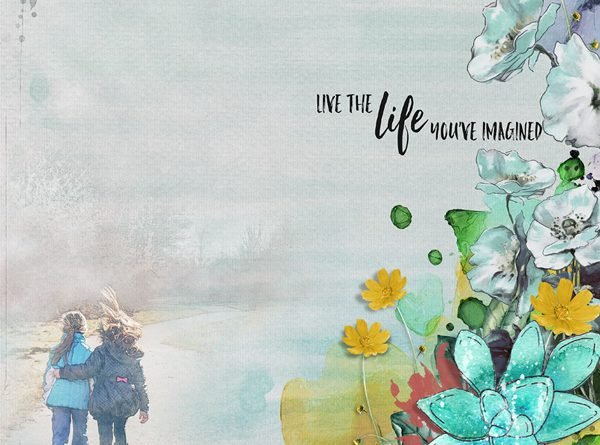 Live the life you imagined - Oscraps challenge white space Avril - Clin d'oeil design