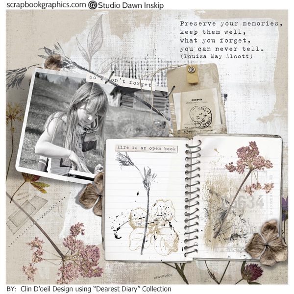 Dearest Diary {Collection} by Dawn Inskip