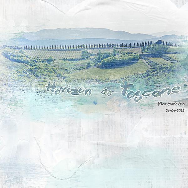 Horizon de Toscane - Clin d'oeil Design - scrap digital -