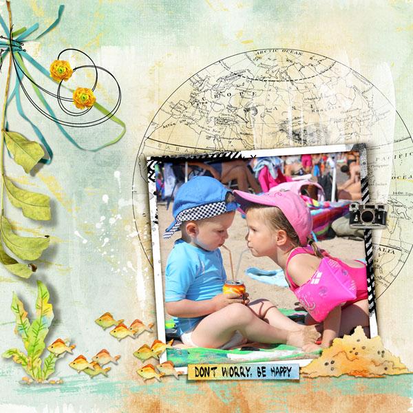 Deep blue Sea collection by Dawn Inskip J'adore cette photo de mes petits enfants ! deux pailles dans la même canette !