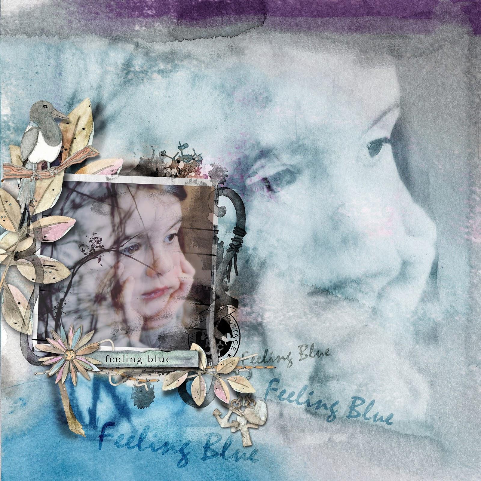 scrapbooking digital clindoeildesign clin d'oeil design Dawn Inskip darkest day collection