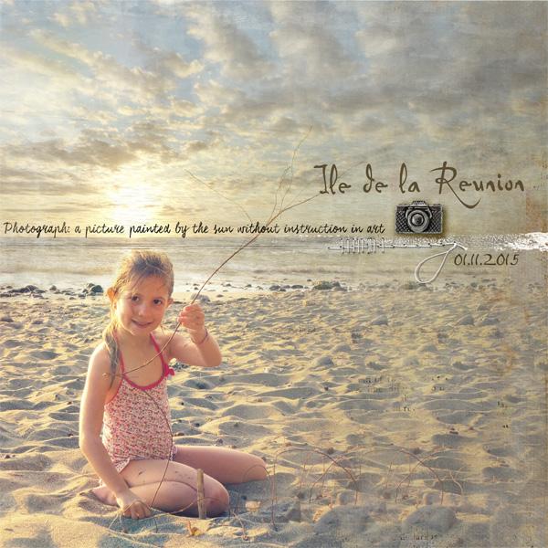 Inspiration affiche de film pour cette page scrap digital Clin d'oeil design
