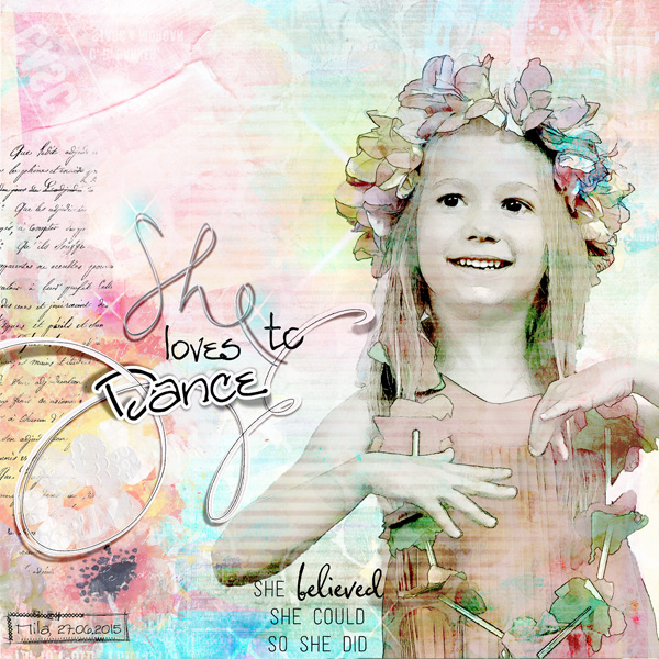 She love to danceNBK DEsign She Collection  scrapbooking digital  clin d'oeil design