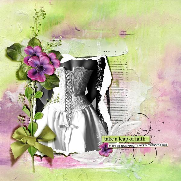 """Leap of faith Dawn Inskip  En fait c'est un kit sur ces moments de la vie où il nous a fallut un peu de courage, et aussi de la confiance, pour faire un """"acte de foi"""" Un mariage c'est une promesse pour le reste de la vie"""