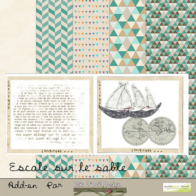 Kit Escale sur le Sable - Publiscrap - Clin d'oeil Design