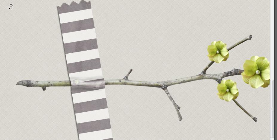 Tuto Scrap digital marquer un pli dans le scotch Clin d'oeil Design