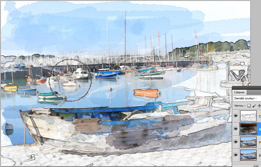 Tutorial Photoshop peinture Aquarelle -Clin doeil Design -