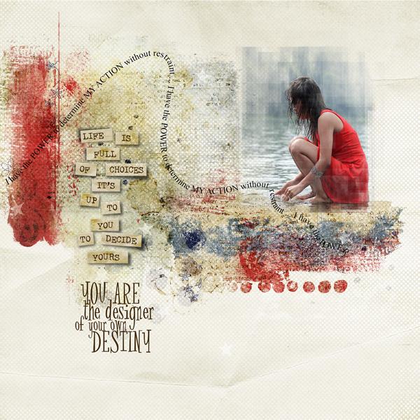 """Freedom by Dawn Inskip un kit aux magnifiques couleurs avec un plus : des textpath ! C'est quoi ? des """"chemins"""" pour écrire vos textes !"""