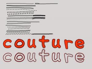 Tuto Couture sous Photoshop PSE Clin d'oeil Design