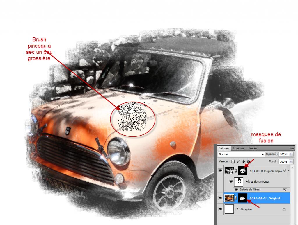 Tutorial Photoshop effet sketch bord encrés by Clin d'oeil Design