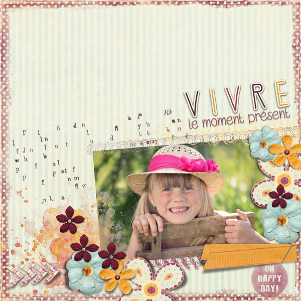 clindoeil design bellisae Carpe diem scrap digital layout Clean & Simple C&S