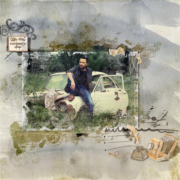 Dawn Inskip - The old curiosity shop un kit idéal pour les photos et pages vintages