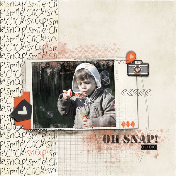 GSO encore un Oh Snap by Bellisae scrapbook page by Clin d'oeil design