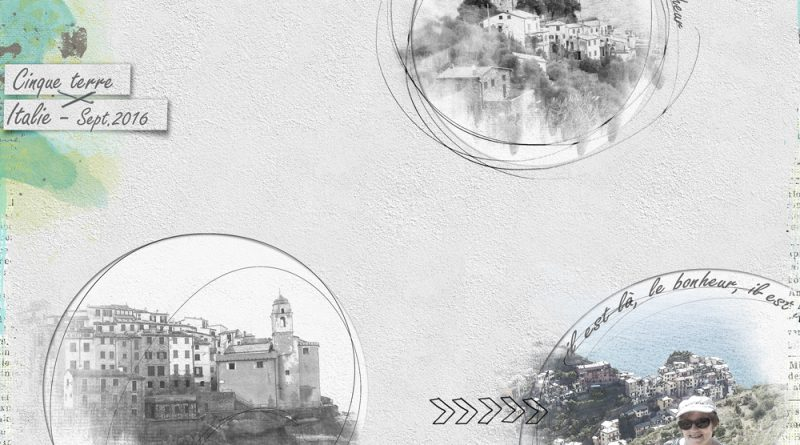 Italie Cinque terre - challenge visiteur Publiscrap PBS