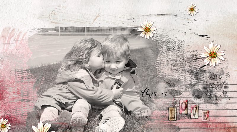 Un amour d'enfance by Clin d'oeil Design - Collection Memories by Dawn Inskip
