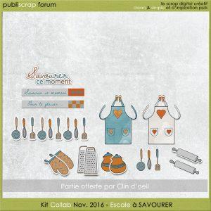Kit Collab Publiscrap Escale à savourer Partie Clin d'oeil Design