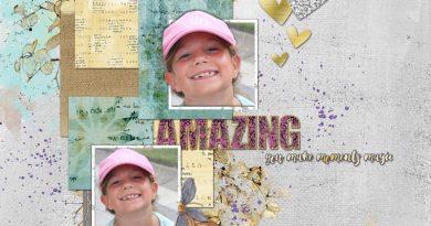 Be amazing page scrap digital clin d'oeil design