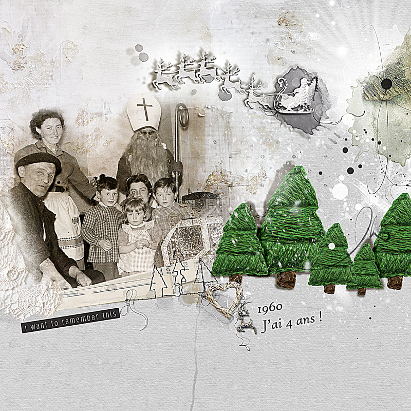 Advent Calender 2016 Oscraps day 12 by clin d'oeil Design - Page heritage