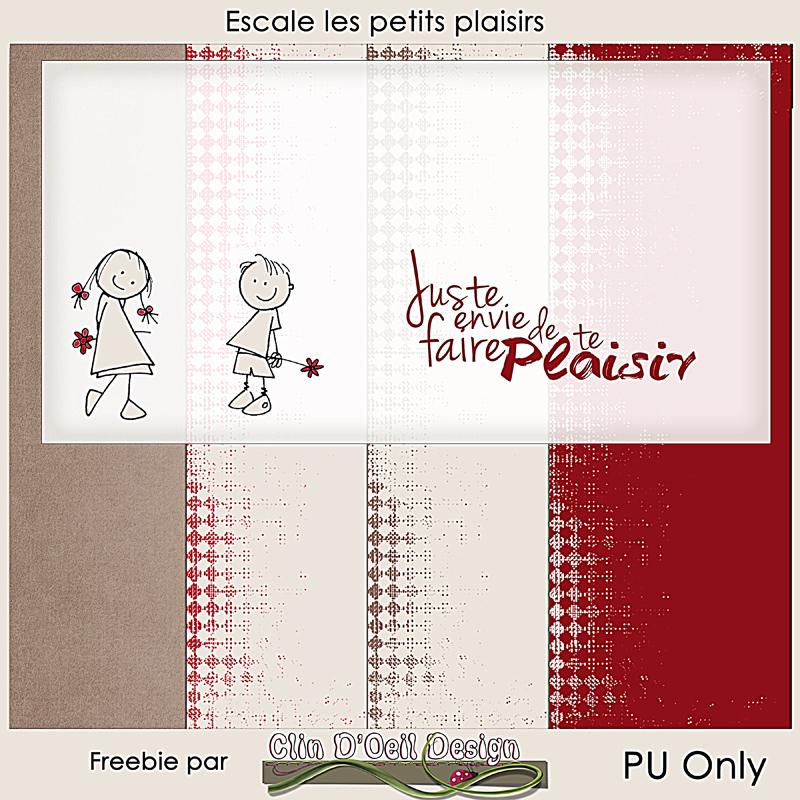 Kit Collab Publiscrap Escale des Petits plaisirs freebie