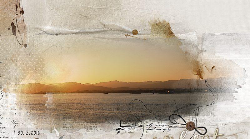 Coucher de soleil dans le port de Fréjus
