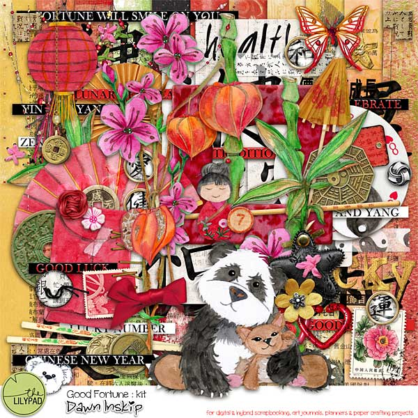 Kit Good Fortune by Dawn Inskip - Clin d'oeil Design