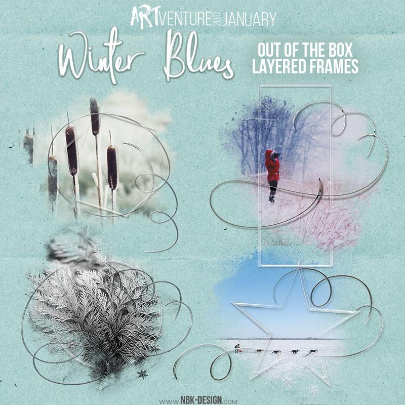 Winter Blues By NBK Design - Clin D'oeil Design