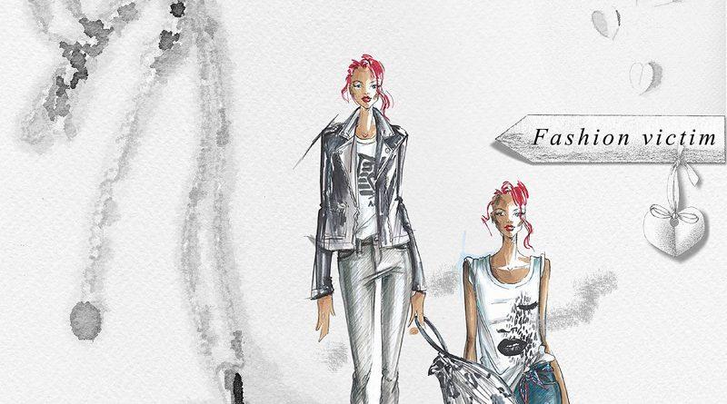 Light & shade Fashion victim a simply artsy scrapbook layout