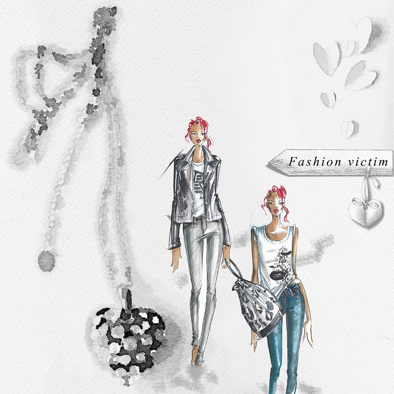 Light & shade Fashion victim a simply artsy scrapbook layout