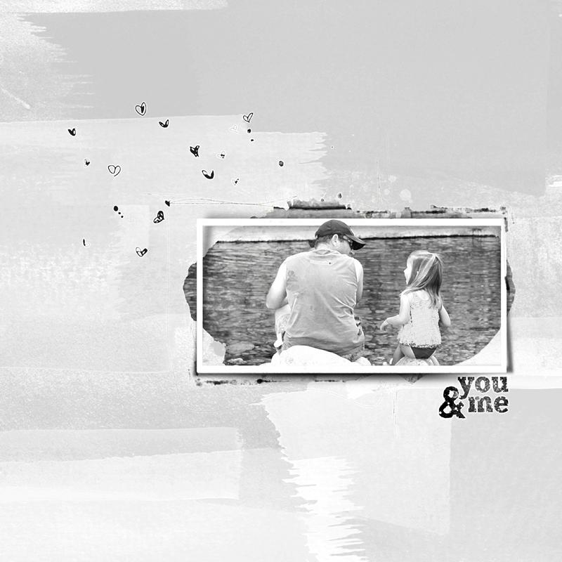 Just you and me - Noir et Blanc Clin d'oeil Design