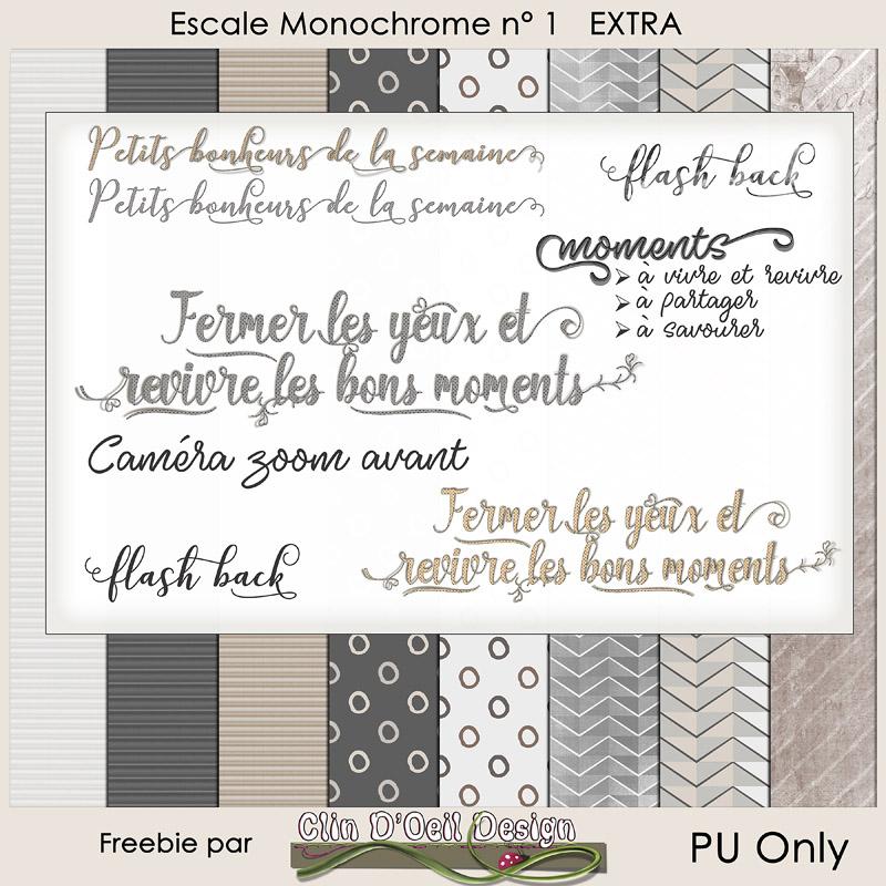 Escale Monochrome Wordart