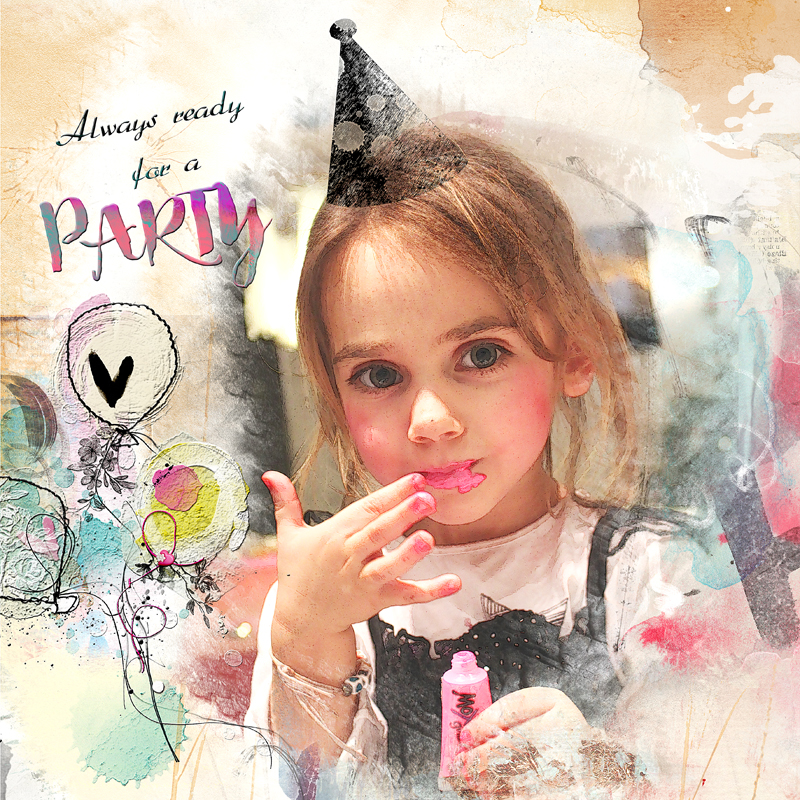 Ready to party - Birthday party Oscraps - Clin d'oeil design