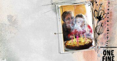 Challenge Recette - One fine day Oscraps birthday clin d'oeil design